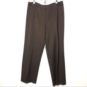 Lafayette 148 brown dress pants trousers 16 b4